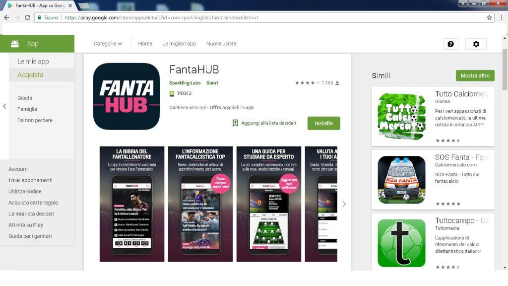 app fantahub 1024x576 - Dove giocare a fantacalcio online