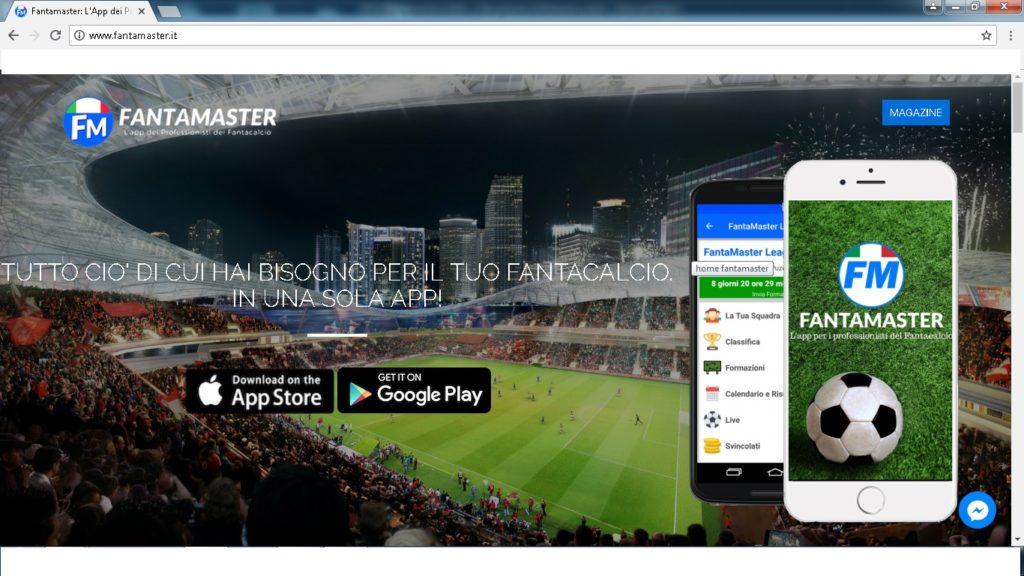 app fantamaster 1024x576 - Dove giocare a fantacalcio online